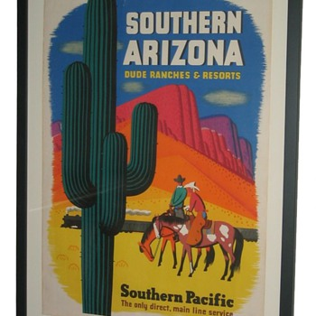 Southern Pacific Arizona Dude Ranch Railroad Poster
