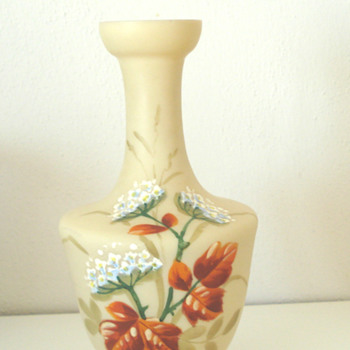 Hand painted vase bristol glass ?