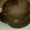 World War 2 German Helmet and Trench Art Bullet Knife