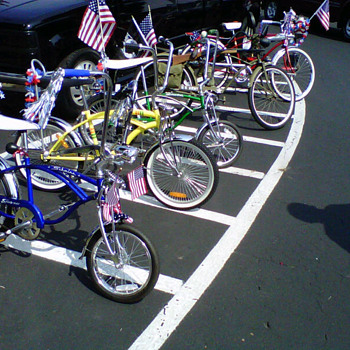 Some of My Collection of Bikes on display for a local Parade.