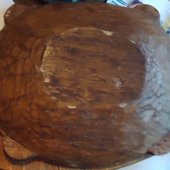 large carved wood bowl  American Indian?