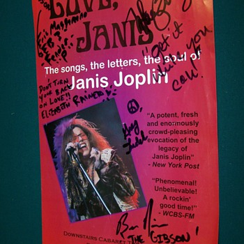 Love Janis Joplin tribute poster - Advertising