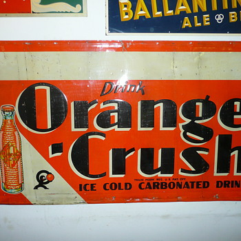 Orange Crush Soda Sign 
