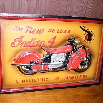 Indian 4 motorcycle sign - Signs