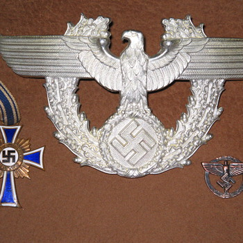 Nazi Germany war medal , pin & emblem for hat?