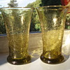 Crackle Glass Vases - Anyone recognize maker or place?