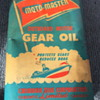 Moto-Master outboard motor gear oil can.
