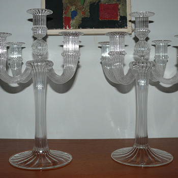 two soffiato candelabras - Art Glass