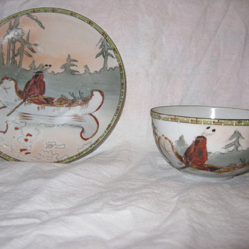 Hand painted cup and saucer from Japan - Asian