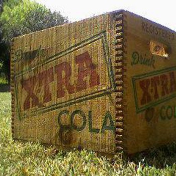 Xtra Cola Dovetail Crate - Advertising