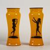 pair of bohemian tango vases