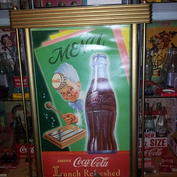 1950 Coca-Cola Cardboard Sign(s)