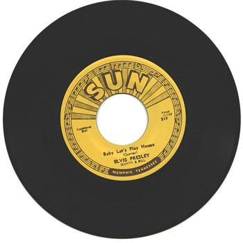 Elvis Presley  45  on Sun Label  