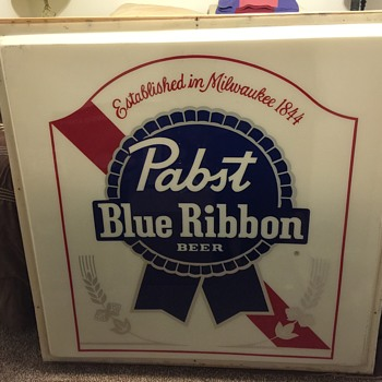 Pabst blue ribbon polycarbonate sign