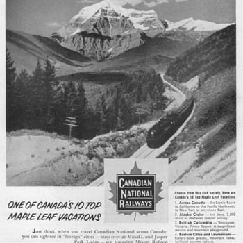 1952 - Canadian National Railways Advertisements - Advertising