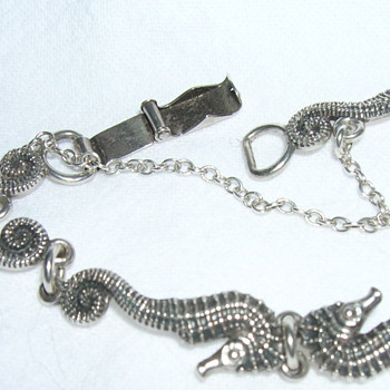 Seahorse bracelet, Carl Schon sterling silver c. 1940s - Fine Jewelry