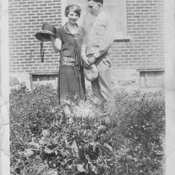 1920's My Grandmother and Grandpa Dating . Love her Dress  and hat !! - Photographs
