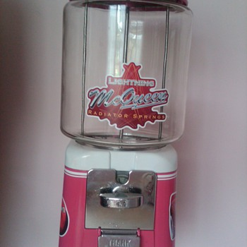 1950s Oak Acorn gumball machine done in Pink Cars theme for my girl - Coin Operated