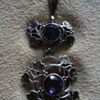 Jessie M. King Amethyst and Enamel Pendant