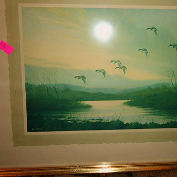 Wilfred Bailey Print from thrift store $5.00  I think 1800-1900? Mallards