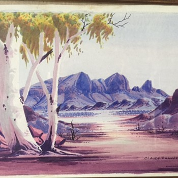Aboriginal watercolour 1960s - Visual Art