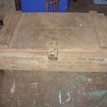 ammunition box - Military and Wartime