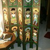carved room divider