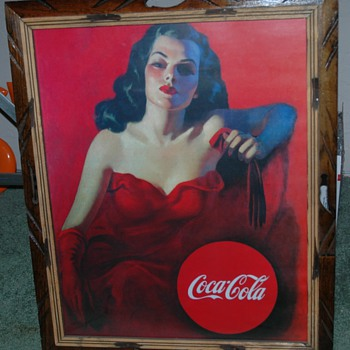 Coca-Cola advertisement poster