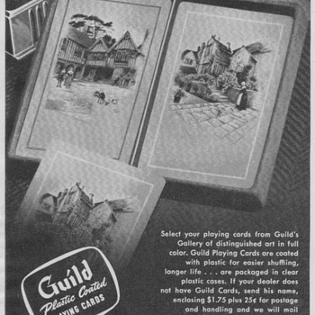 1950 Guild Playing Cards Advertisement - Advertising