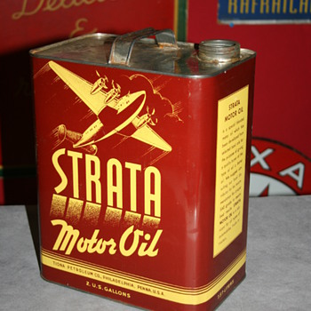 strata motor oil can - Petroliana