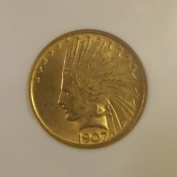 $10 United States Indian Gold Pieces 1907-1933