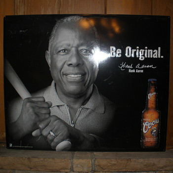 Hank Aaron and Coors - Baseball