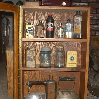Vintage Wall Cabinet on the Floor - Furniture