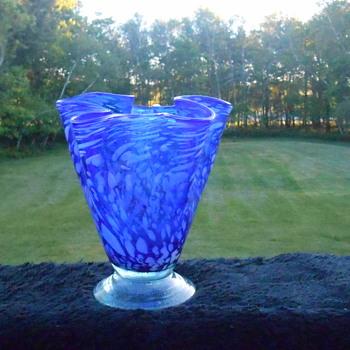 Large Murano Handkerchief Vase - Art Glass