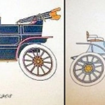 Antique Automobile Lithographs - Posters and Prints