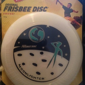 Wham-O frisbee 110 gram moonlighter model #90120.  Bar code number 032187901207