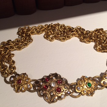 Chanel did a line that looks like this necklace in the early 80s, this is unmarked