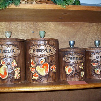 Apple Canisters - Vintage