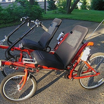 Twin RECUMBENT - 2 seat side by side - Tandem - 4 wheel - Outdoor Sports