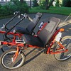 Twin RECUMBENT - 2 seat side by side - Tandem - 4 wheel