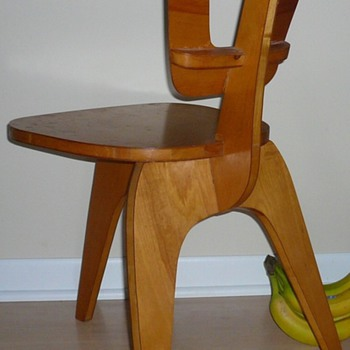 Handmade Modern Chair circa 1950 Plywood Prototype?