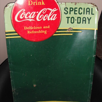 1941 & 1953 Coca-Cola Tin Menu Boards - Coca-Cola