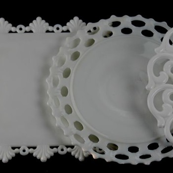 Reticulated Milk Glass Cake Stands