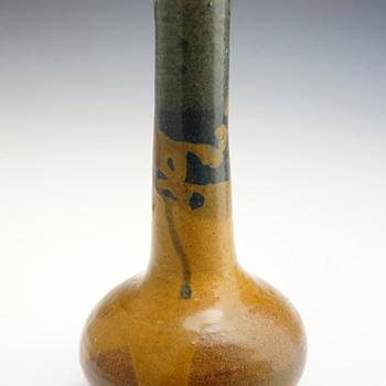 1900s Eugène Lion Japonist Grès Ceramic Vase - Art Nouveau