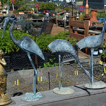 Three metal Garden Cranes