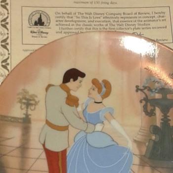 Walt Disney Cinderella China plates