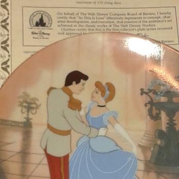 Walt Disney Cinderella China plates