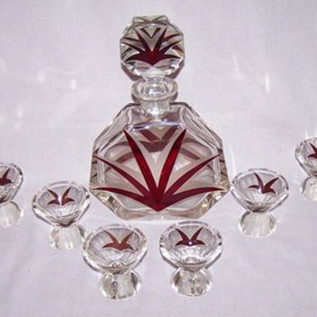 Decanter and glass set - Karel Palda
