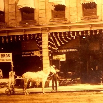 1880s store photo, Furniture Store and Undertaking--In the South - Photographs