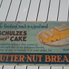 Pre-1920's Butternut Bread Cardboard Trolley Car Sign